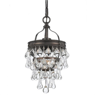 Calypso 1 Light Bronze Mini Chandelier (131-VZ)