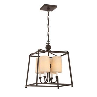 Libby Langdon for Crystorama Sylvan 4 Light Dark Bronze Chandelier (205|2245-DB)
