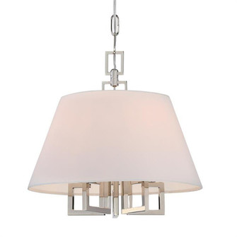 Libby Langdon for Crystorama Westwood 5 Light Polished Nickel Mini Chandelier (2255-PN)