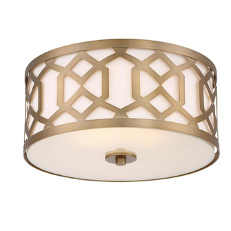 Libby Langdon for Crystorama Jennings 3 Light Aged Brass Ceiling Mount (205 2263-AG)