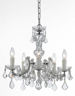 Maria Theresa 5 Light Chrome Mini-Chandelier (205|4376-CH-CL-MWP)