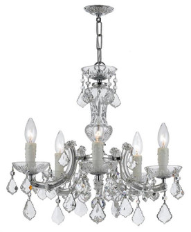 Maria Theresa 5 Light Chrome Mini-Chandelier (205|4376-CH-CL-S)