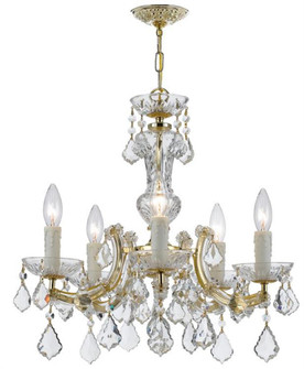 Maria Theresa 5 Light Gold Mini-Chandelier (4376-GD-CL-SAQ)