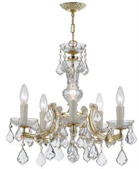 Maria Theresa 5 Light Gold Mini-Chandelier (205|4376-GD-CL-SAQ)