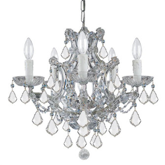 Maria Theresa 6 Light Clear Italian Crystal Chrome Mini Chandelier (4405-CH-CL-I)
