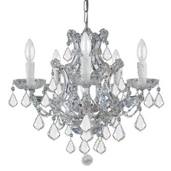 Maria Theresa 6 Light Clear Italian Crystal Chrome Mini Chandelier (205|4405-CH-CL-I)