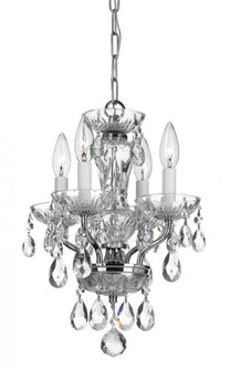 Traditional Crystal 4 Light Chrome Mini Chandelier (205|5534-CH-CL-MWP)