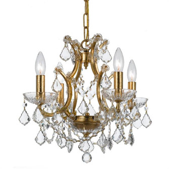 Filmore 4 Light Swarovski Strass Crystal Gold Mini-Chandelier (4454-GA-CL-S)