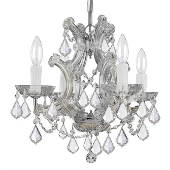 Maria Theresa 4 Light Clear Italian Crystal Chrome Mini Chandelier (4474-CH-CL-I)