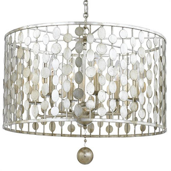 Layla 6 Light Antique Silver Chandelier (205 546-SA)