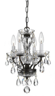 Traditional Italian Crystal 4 Light Bronze Mini Chandelier (205|5534-EB-CL-I)