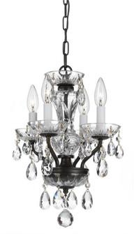 Traditional Italian Crystal 4 Light Bronze Mini Chandelier (205|5534-EB-CL-I)