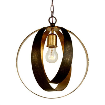 Luna 1 Light Bronze & Gold Sphere Mini Chandelier (580-EB-GA)