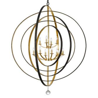 Luna 12 Light Bronze & Gold Chandelier (205|590-EB-GA)