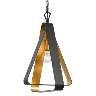 Luna 1 Light Bronze and Gold Mini Chandelier (591-EB-GA)
