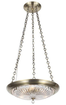 Celina 3 Light Antique Brass Mini Chandelier (9943-AB)