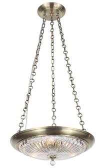 Celina 3 Light Antique Brass Mini Chandelier (205|9943-AB)