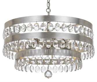 Perla 5 Light Antique Silver Chandelier (205|6106-SA)