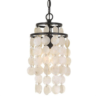 Brielle 1 Light Dark Bronze Mini Chandelier (BRI-3000-DB)