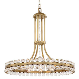 Clover 8 Light Aged Brass Chandelier (205|CLO-8898-AG)