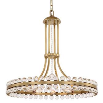 Clover 8 Light Aged Brass Chandelier (205 CLO-8898-AG)