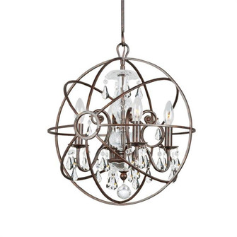 Solaris 4 Light Clear Crystal Bronze Mini Chandelier (205|9025-EB-CL-MWP)