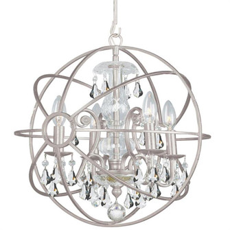 Solaris 4 Light Clear Crystal Silver Mini Chandelier (205|9025-OS-CL-S)