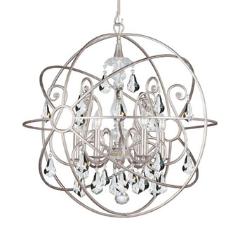 Solaris 6 Light Crystal Silver Sphere Chandelier (205|9028-OS-CL-MWP)
