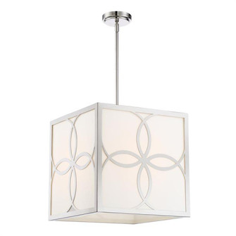 Anniversary 4 Light Polished Nickel Chandelier (205|ANN-2104-PN)