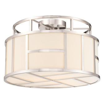 Libby Langdon For Crystorama Danielson 3 Light Polished Nickel Ceiling Mount (205 DAN-400-PN)