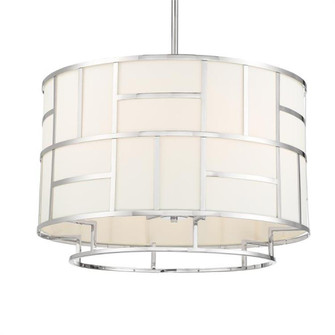 Libby Langdon For Crystorama Danielson 6 Light Polished Nickel Chandelier (205|DAN-406-PN)