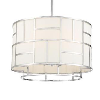 Libby Langdon For Crystorama Danielson 6 Light Polished Nickel Chandelier (205|DAN-406-PN)