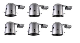 6.13 inch ICAT REMODEL HOUSING, 120V, E26 SOCKET, FITS PAR30/BR30/A19, 75W MAX 6 PACK (758|ICAT5R-E26-6PK)