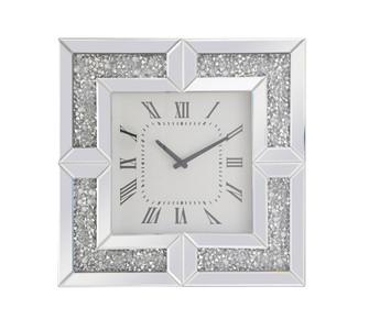 20 inch Square Crystal Wall ClockSilver Royal Cut Crystal (758|MR9208)