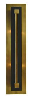 2-Light Antique Brass/Matte Black Louvre Sconce (84 4802 AB/MBLACK)