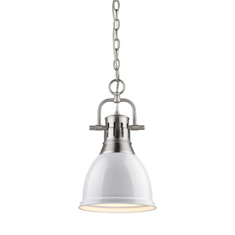 Duncan Small Pendant with Chain (36|3602-S PW-WH)