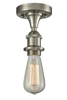 Bare Bulb 1 Light Semi-Flush Mount (3442|516-1C-SN)