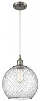 Large Farmhouse Chicken Wire 1 Light Mini Pendant (3442|516-1P-SN-G122-10CBK)