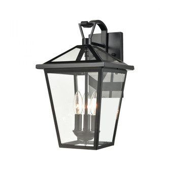 Main Street 3-Light Outdoor Sconce in Black with Clear Glass Enclosure (91|45471/3)