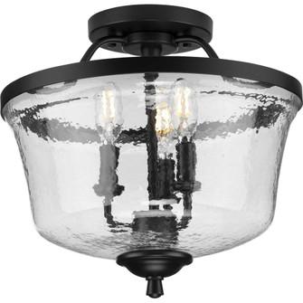 Bowman Collection Black Three-Light Semi-Flush Convertible (149 P350148-031)