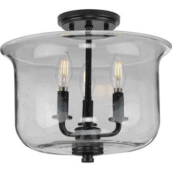 Winslett Collection Black Three-Light Semi-Flush Convertible (149 P350153-031)