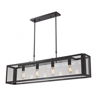 Parameters 4-Light Linear Chandelier in Bronze with Clear Glass (91|63023-4)