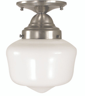 1-Light Antique Brass Taylor Flush / Semi-Flush Mount (2551 AB)