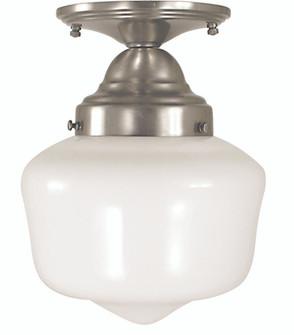 1-Light Antique Brass Taylor Flush / Semi-Flush Mount (84 2551 AB)