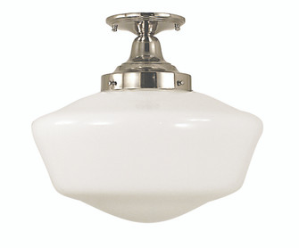 1-Light Polished Silver Taylor Flush / Semi-Flush Mount (2558 PS)