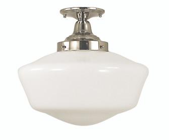 1-Light Polished Silver Taylor Flush / Semi-Flush Mount (84 2558 PS)