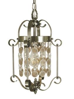 1-Light Brushed Nickel Naomi Mini Chandelier (2921 BN)