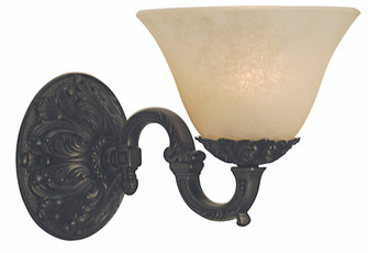 1-Light Mahogany Bronze Napoleonic Sconce (84 7881 MB/WH)