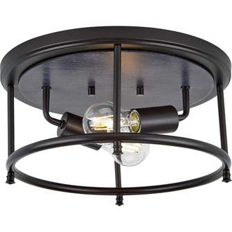 """Durrell Collection Two-Light Black 13"""" Flush Mount (149 P350151-031)"""