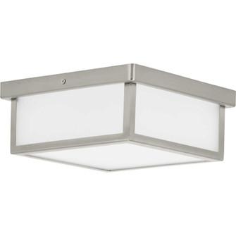 """Box LED Brushed Nickel One-Light 10"""" LED Flush Mount (149 P350114-009-30)"""